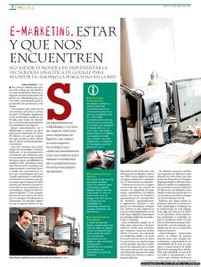 Página 2 del artículo que el Diario de León  dedicó a Seo Asesor el martes 28 de mayo de 2013