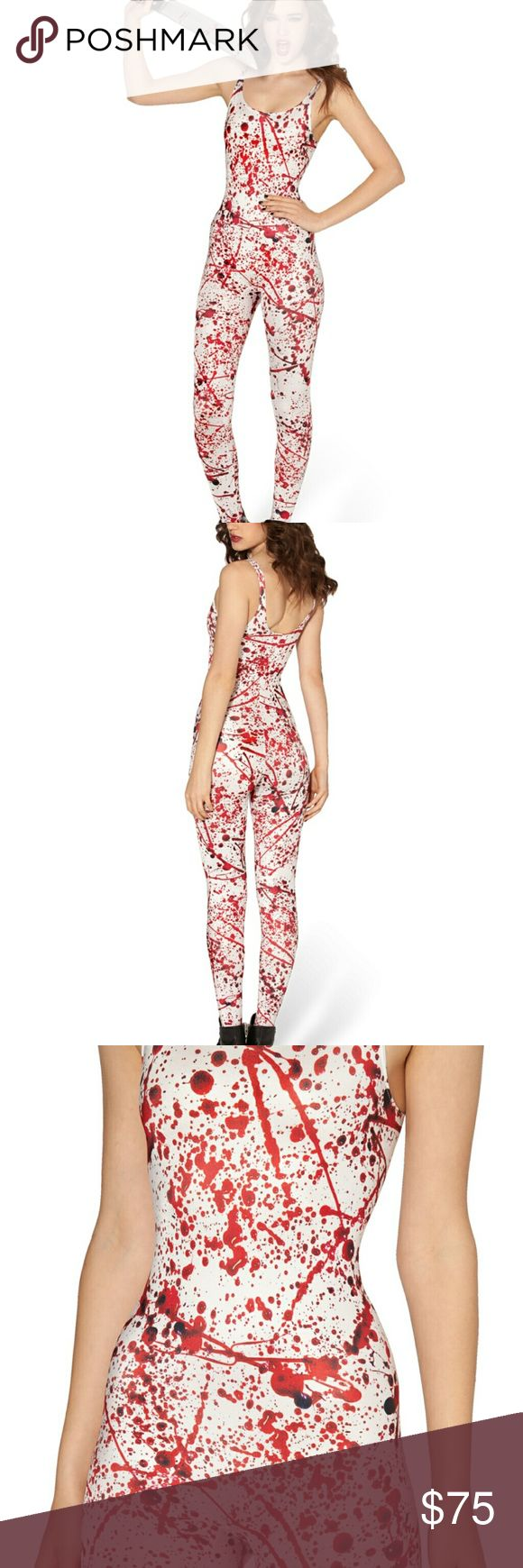 BlackMilk Blood Splatter Cat Suit - XL For those who can appreciate the trajectory of a blood splatter.  Composition:  83% Polyester Bright, 17% Spandex Washing: Please hand wash cool. Made in: Australia   SOLD OUT/MUSEUM NOT AVAILABLE Blackmilk Pants Jumpsuits & Rompers