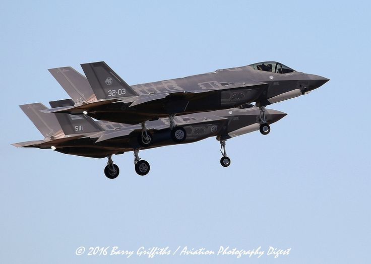 https://flic.kr/p/QfhtF3 | INTERNATIONAL TWO-SHIP RECOVERY: Lockheed Martin F-35A Lightning IIs; Italian Air Force 32-03 & Royal Norwegian Air Force 5111 56th FW | INTERNATIONAL TWO-SHIP RECOVERY: Lockheed Martin F-35A Lightning IIs; Italian Air Force 32-03 & Royal Norwegian Air Force 5111 56th FW @ Luke AFB (KLUF), Glendale, AZ, USA