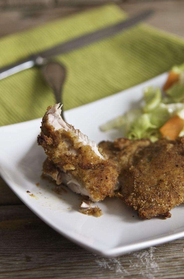 Braciole di pollo panate al forno