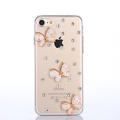 Varten+iPhone+7+kotelo+/+iPhone+7+Plus+kotelo+/+iPhone+6+kotelo+Paljetti+Etui+Takakuori+Etui+Perhonen+Kova+PC+AppleiPhone+7+Plus+/+iPhone+–+EUR+€+7.83
