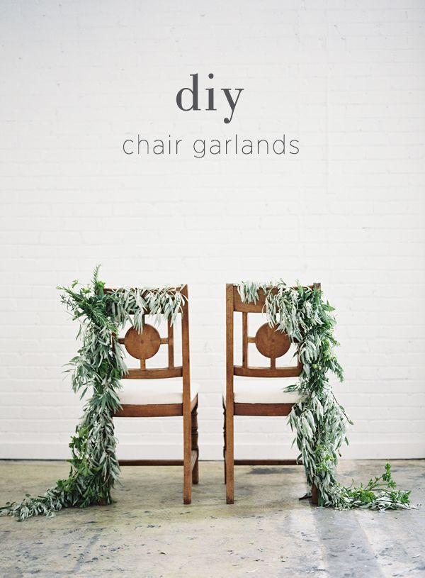 DIY Chair Garland