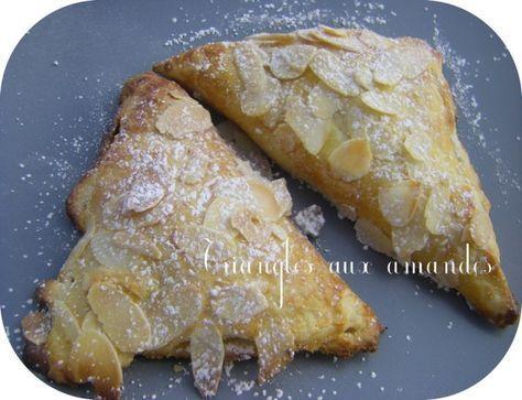 C'est simple et rapide, mais surtout délicieux si on aime les amandes! Découpez des carrés de pâte feuilletée. Incorporez de la crème d'amandes : 5 cuillères à soupe de sucre, 50g de poudre d'amandes, 25g de farine, 2 cuillères à café de rhum, de l'extrait...