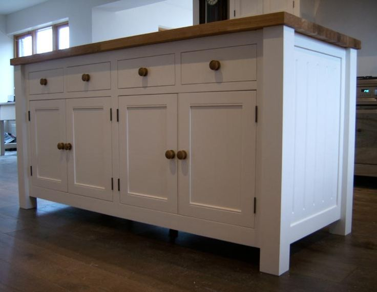 Ikea free standing kitchen cabinets reclaimed oak for Kitchen cabinets ebay
