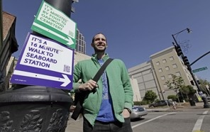 guerilla activism to get people walking instead of relying on cars!
