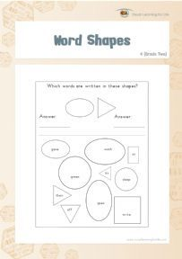 Word Shapes 4 - Individual File Download