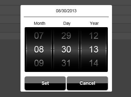 mobiscroll is a stylish and highly customizable jQuery based time & data picker for mobile devices that you can easily pick date or time via touch events.