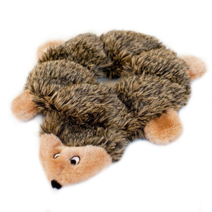 Loopy Hedgehog Dog Toy Squeaky Puppy Squeak Zippypaws Squeakie