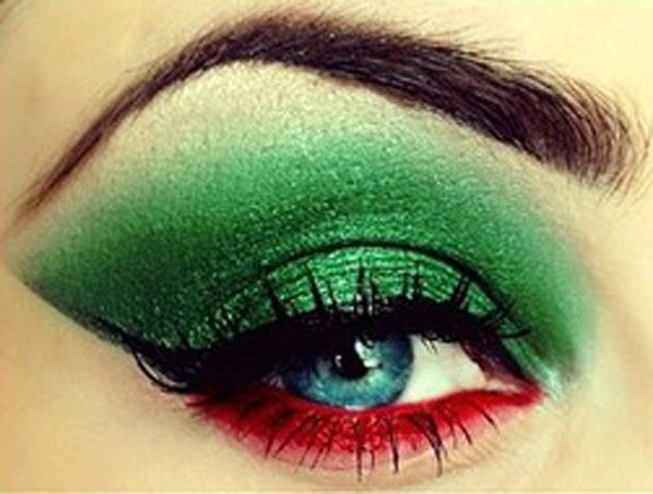 Poison Ivy Eye Makeup | poison ivy makeup Beautiful Comic Book Eye Makeup