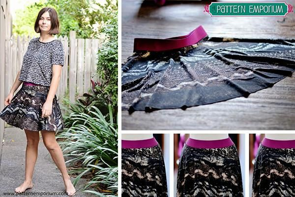 Pattern Hack: stretch knit skater skirt by Pattern Emporium