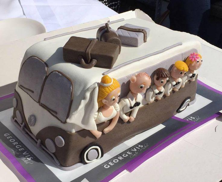 VW bus taart van George Vis Noordwijk