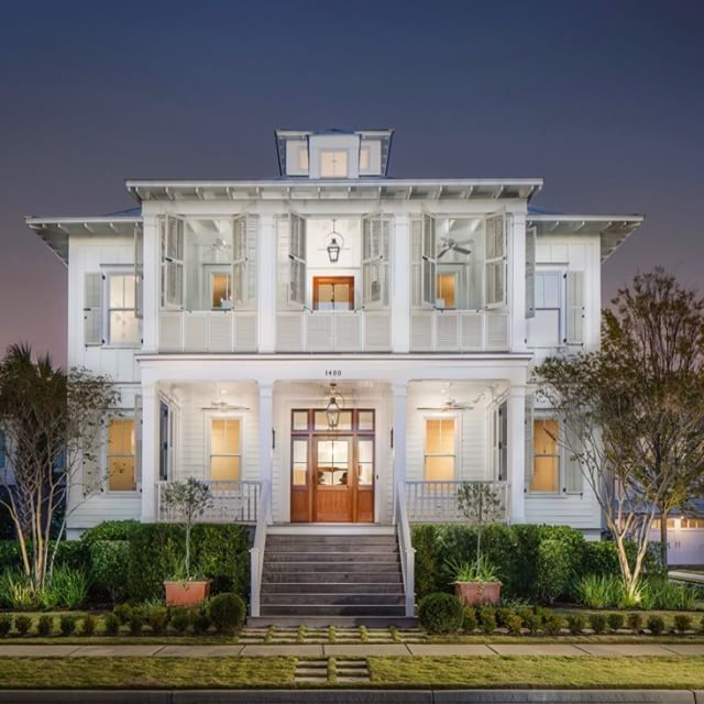 DOUBLE PORCHES | Charleston Style Shuttered Sleeping Porch.