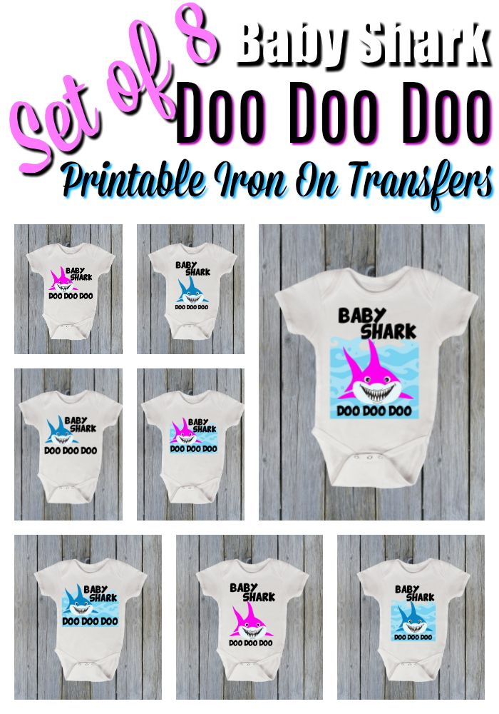 image about Printable Iron on Transfers identify 8 Child Shark Iron Upon Move Electronic, T-blouse Move