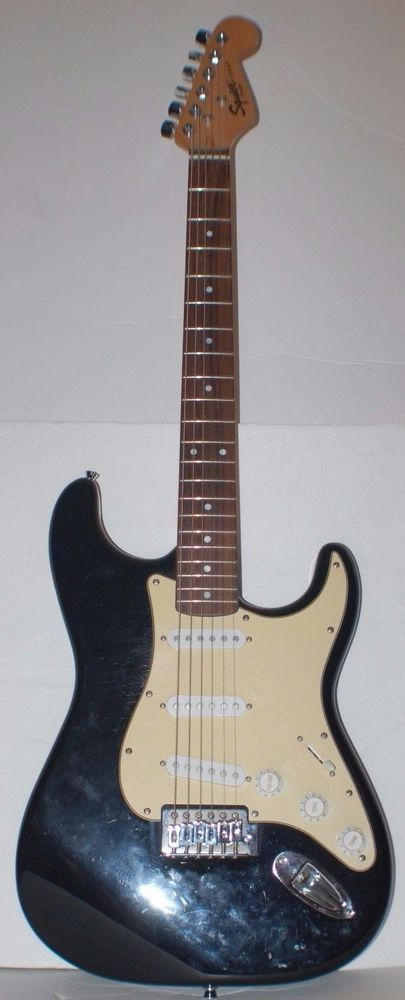 Fender Squier Stratocaster Strat made in China Black w/New Strings! #Fender #Strat #Squier #Rockguitar