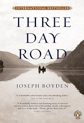 Three Day Road makes my list of top books. This story of two Aboriginal boys who go off to fight in WWII is horrifying, beautiful, touching and heart breaking. Boyden writes in a great style and voice. He's a wonderful Canadian writer that needs more exposure!