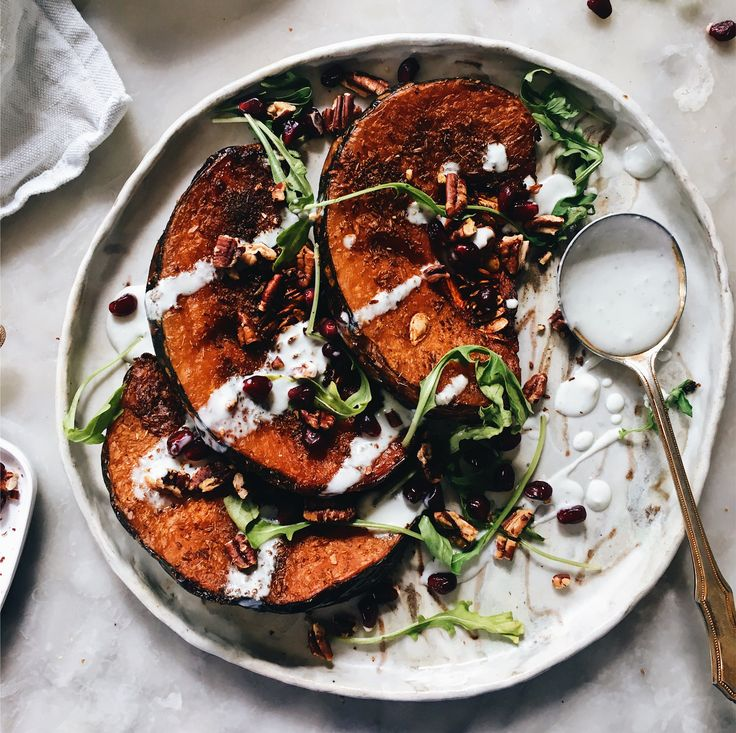 ROASTED ZA'ATAR PUMPKIN WITH BLUE CHEESE RANCH DRESSING   The Healthy Hunter