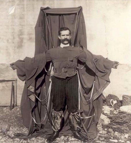 German inventor Franz Reichelt was so confident in his 1912 parachute jacket that he jumped off the Eiffel Tower to test it out.  He fell to his death in front of a crowd of horrified onlookers.
