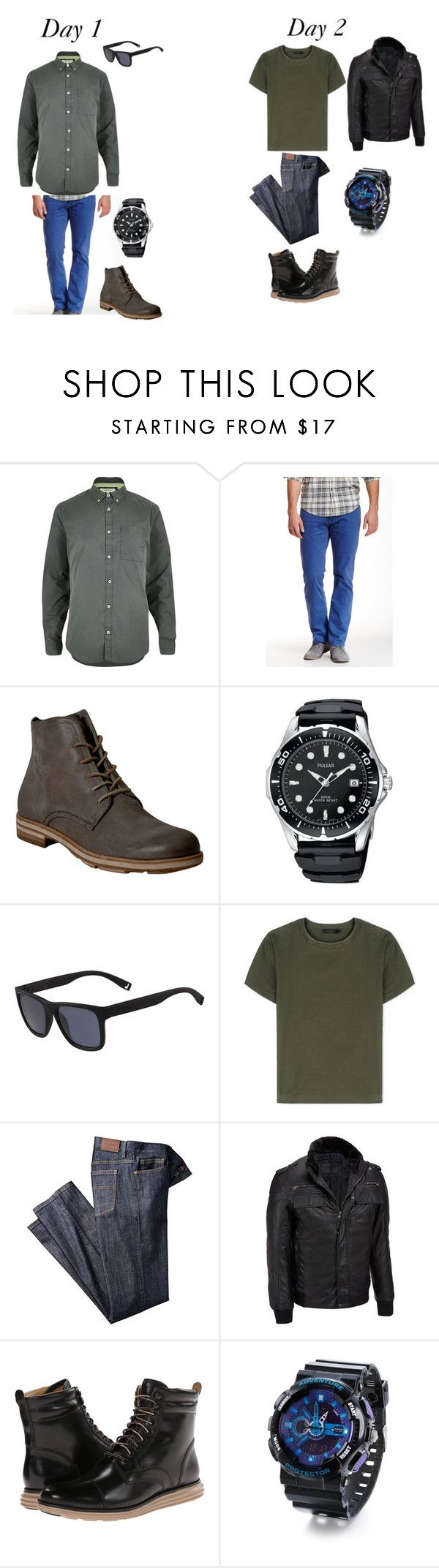 """""""Past and Present Oliver"""" by sara-scott-i on Polyvore featuring River Island, Mavi, A.S. 98, Lacoste, Calvin Klein Collection, Wilsons Leather, Cole Haan, men's fashion and menswear"""