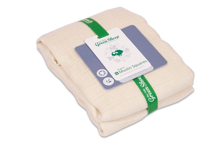 Organic Muslin Squares 80x80cm | Muslins from The Little Green Sheep, UK