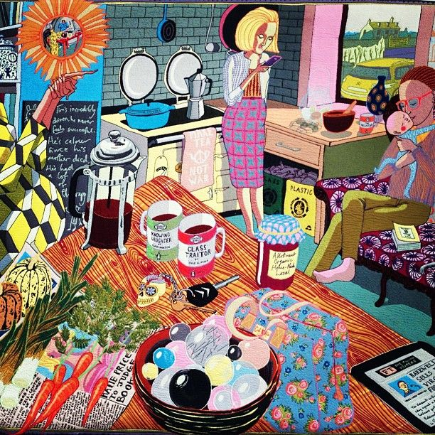 Grayson Perry's tapestries are @VictoriaMiro gallery in London until 11 August