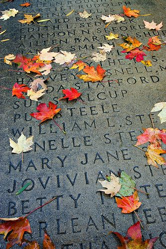 University of Arkansas Senior Walk is one of the University's most well-known traditions. Since 1876, every graduate's name has been etched in a sidewalk that extends over 5 miles. The only University in America that has such a landmark.