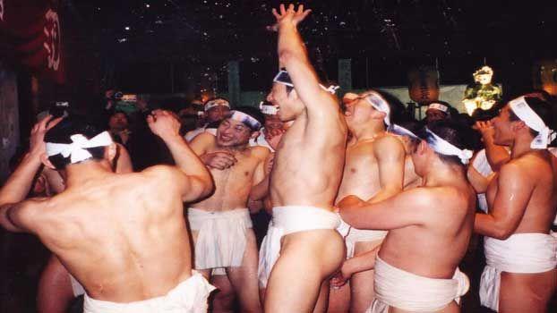 """""""Naked Man Festival"""" Hadaka Matsuri - Konomiya shrine in Inazawa,Japan"""