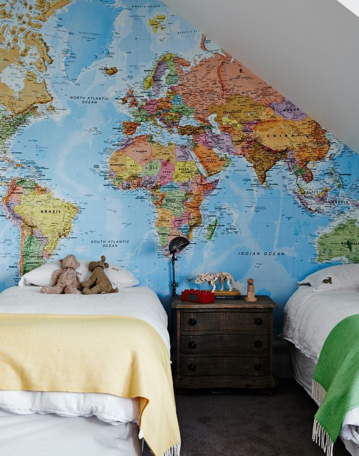 The 25 best giant world map ideas on pinterest maps diy inspire them to dream big with map of the world wallpaper fun and educational sciox Images