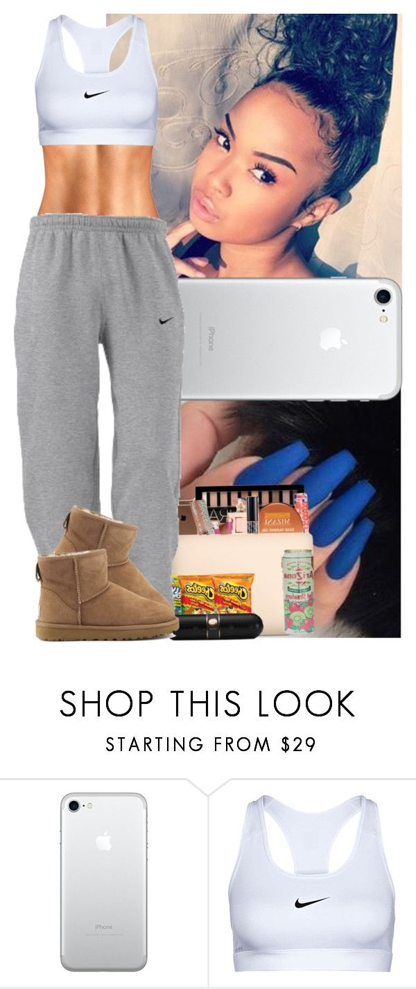 """""""Chill day"""" by msixo ❤ liked on Polyvore featuring NIKE, UGG Australia and plus size clothing"""