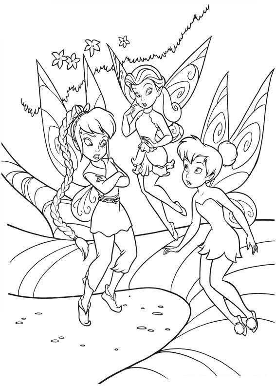 coloring pages pixie hollow-#16