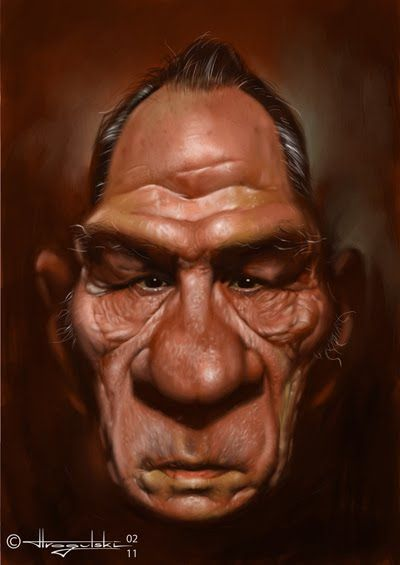 Why did they do this to my guy?  I love him....Celebrity Caricatures by Patrick Strogulski