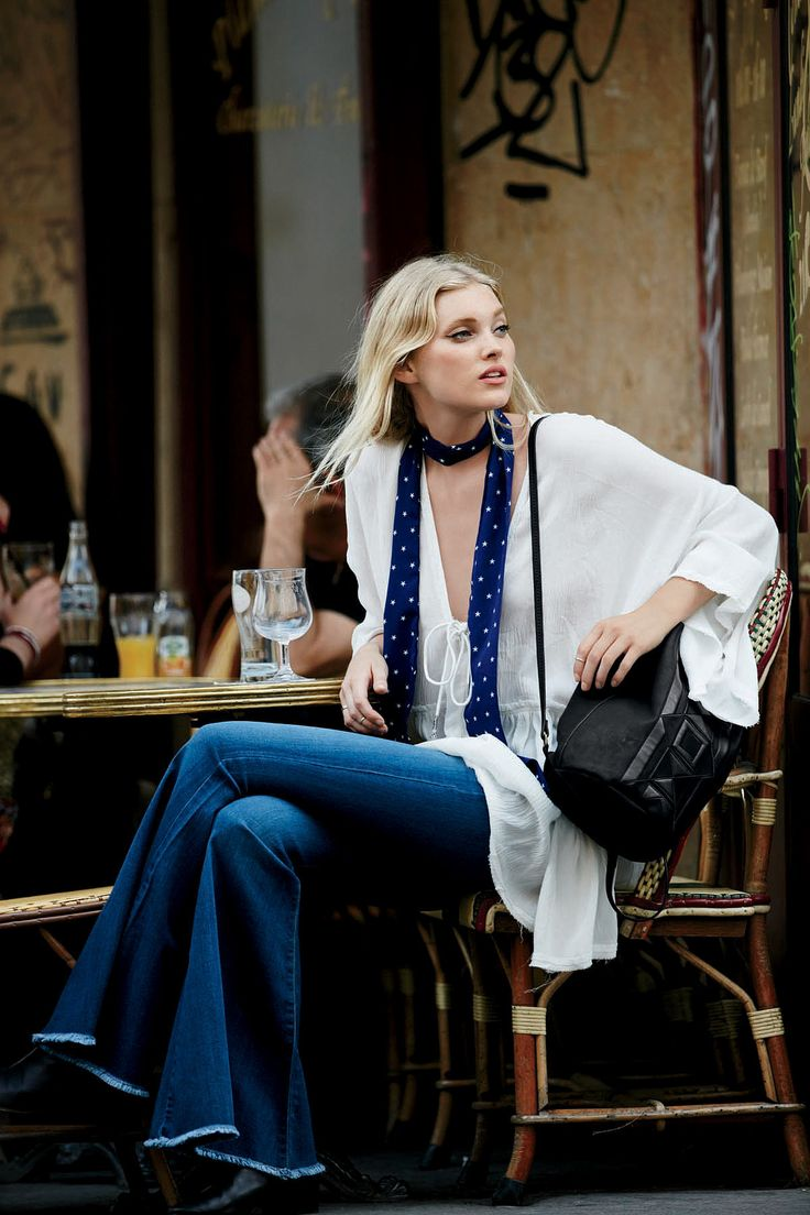 Here's the skinny on skinny neck scarves: we dig them. Tie it tight to the side…