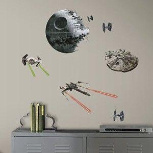RoomMates RMK3012SCS Star Wars EP VII Spaceships P&S Wall Decals