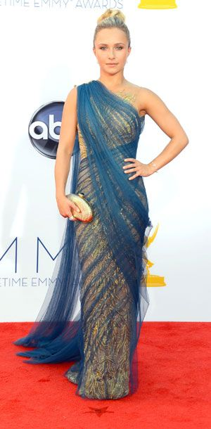 Emmys 2012: Hayden Panettiere  Love the indian sari inspiration