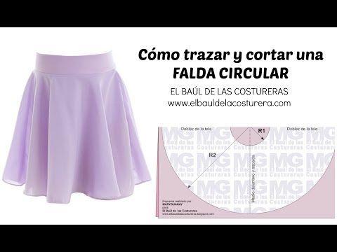 Trazado de la Falda Circunferencia completa, Acampanada o Plato - YouTube