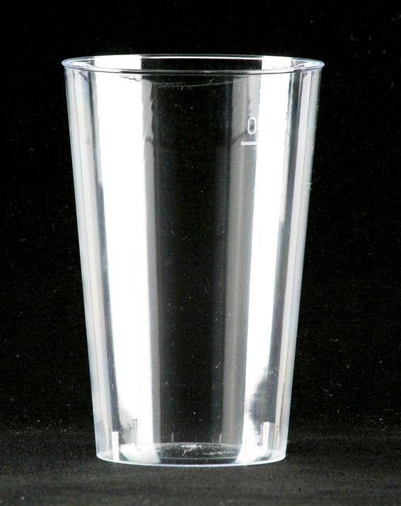 50 Trinkbecher glasklar 0,3l Einwegbecher Plastikbecher