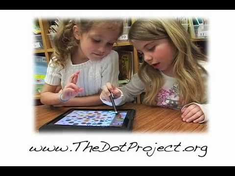 """""""The Dot,"""" by Peter Reynolds. Video: Using iPads to create dot-inspired art gallery!"""