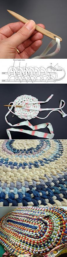 Toothbrush rugs - I've made one from old sheets and fabric. Super easy!: