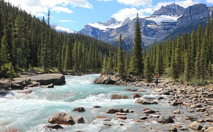 The raging rivers at Jasper National Park are sure to sweep you off your feet -- figuratively, that is. #jasper #canada #canadaday
