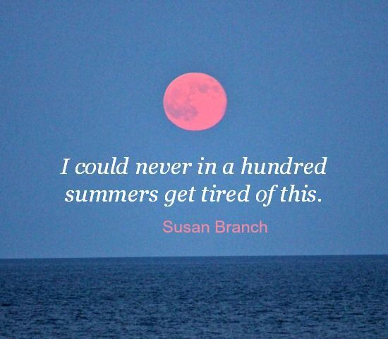Full moon over the sea. Featured on BBL: http://beachblissliving.com/susan-branch-marthas-vineyard/