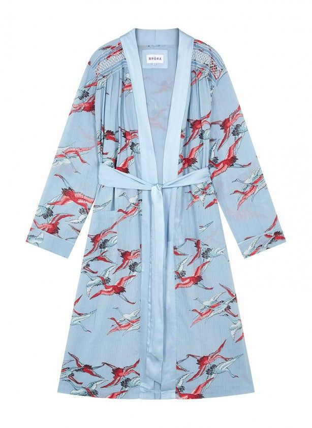 78d7ee6094 Bird Print Cotton Dressing Gown - Women s Bedtime