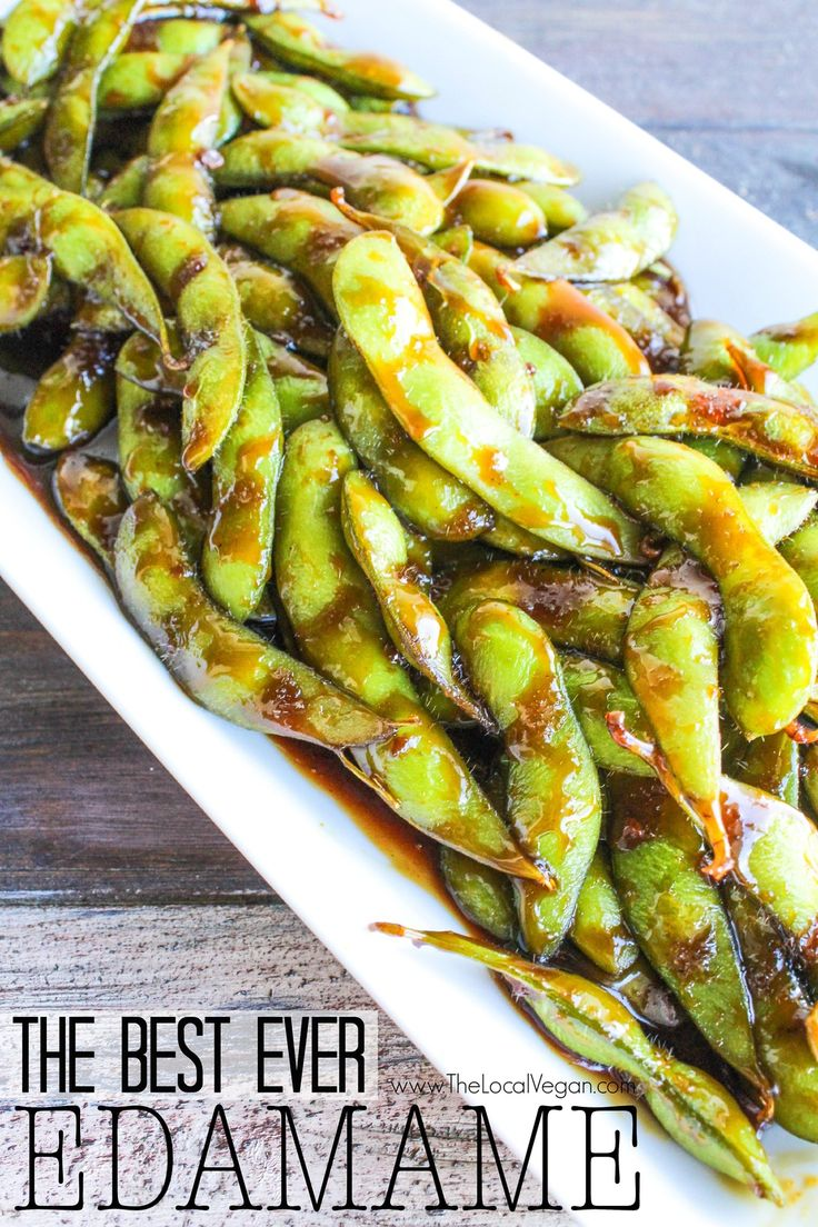 The Best Ever Edamame - The Local Vegan // www.thelocalvegan.com - Have to try this minus the brown sugar! maybe agave?