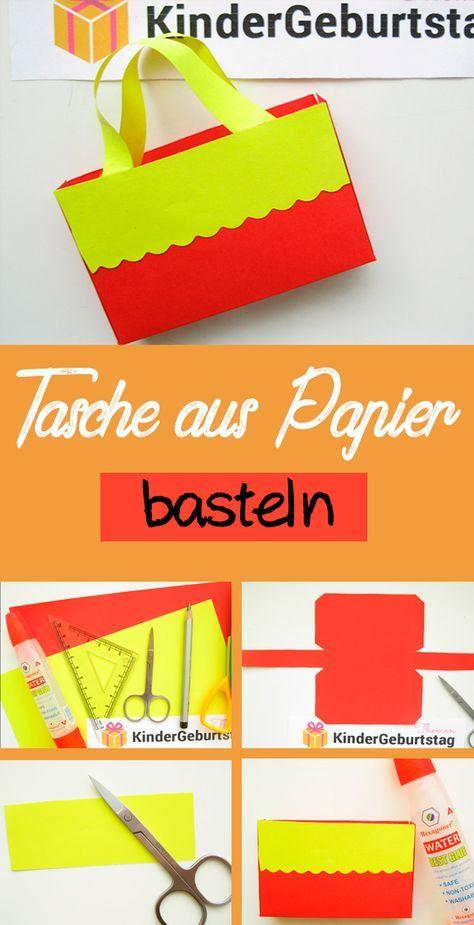 Kleine Tasche Aus Papier Falten Bastelanleitung Geschenke Pinterest