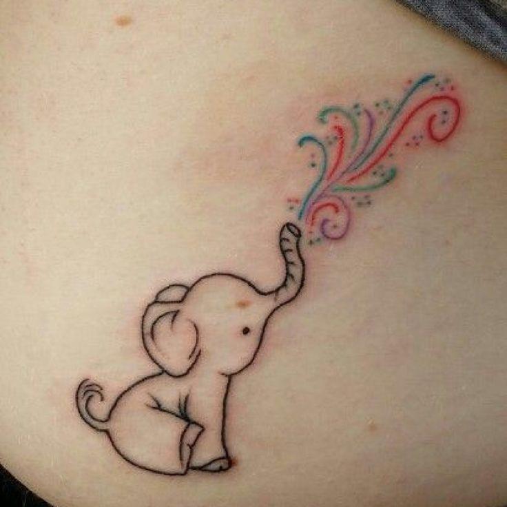 29 Cute Small Elephant Tattoo Designs Ideas