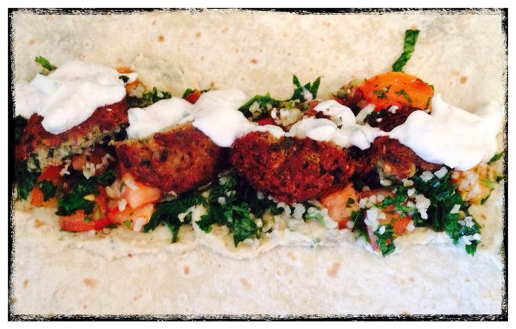 Great vegetarian dish. Falafel with hummus  , parsley salad and mint yoghurt