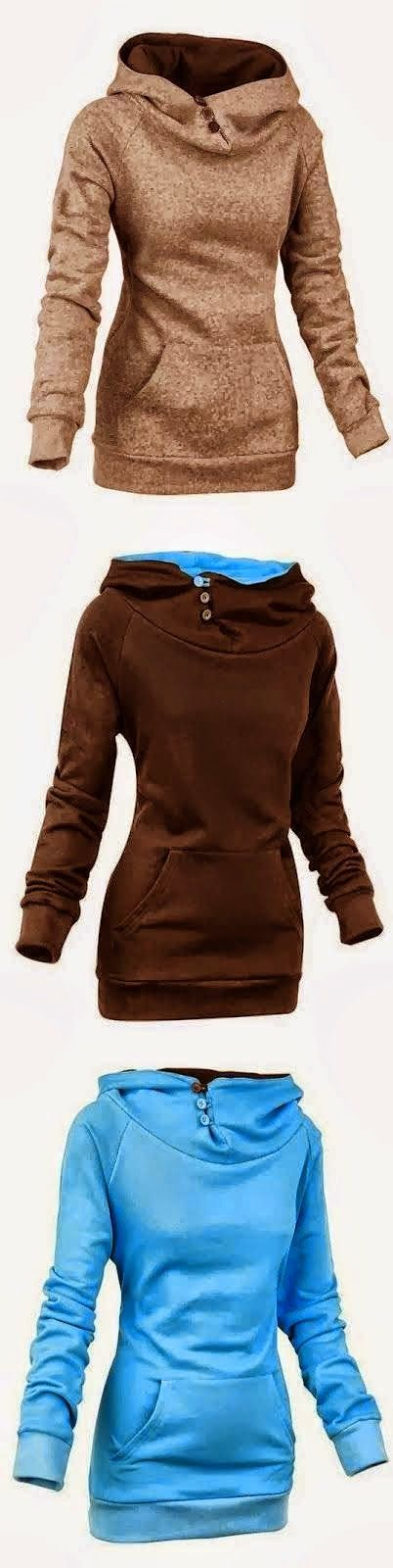 See more Comfy Long Sleeve Women's Hoodie love this just not in browns