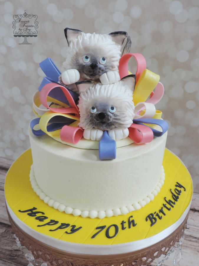 39 best CAT CAKES images on Pinterest Cat cakes Animal cakes