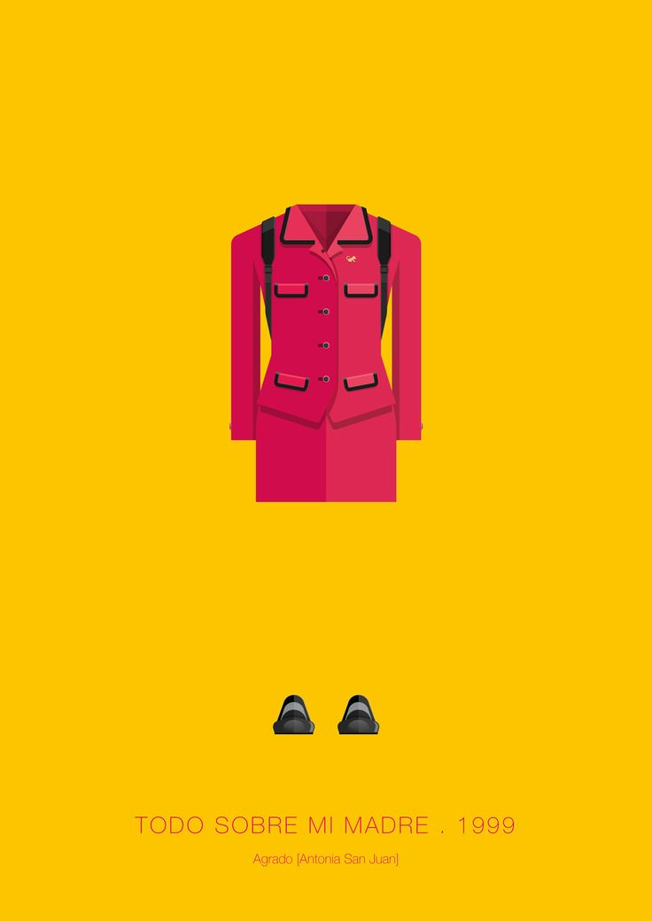 Todo sobre mi madre (All About My Mother) (1999) ~ Minimal Movie Poster by Frederico Birchal ~ Movie Costumes Series #amusementphile