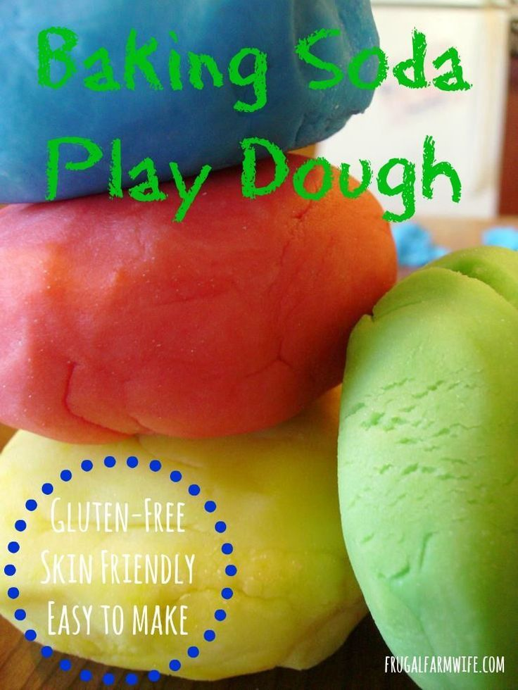Baking Soda Play Dough. Perfect for our food allergy-friendly family - it's flourless!