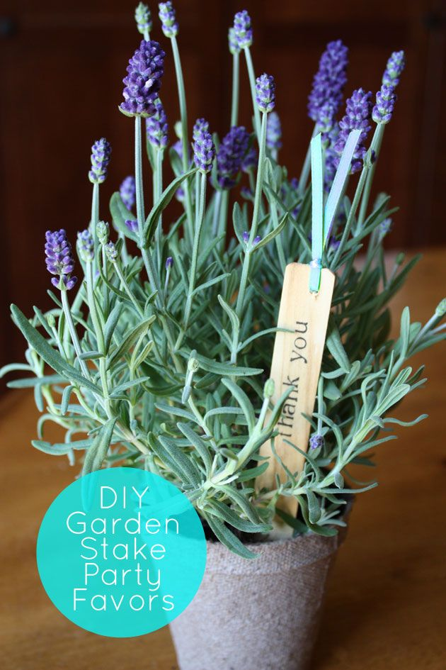 garden stake party favors. beautiful ideas. Home Design Ideas