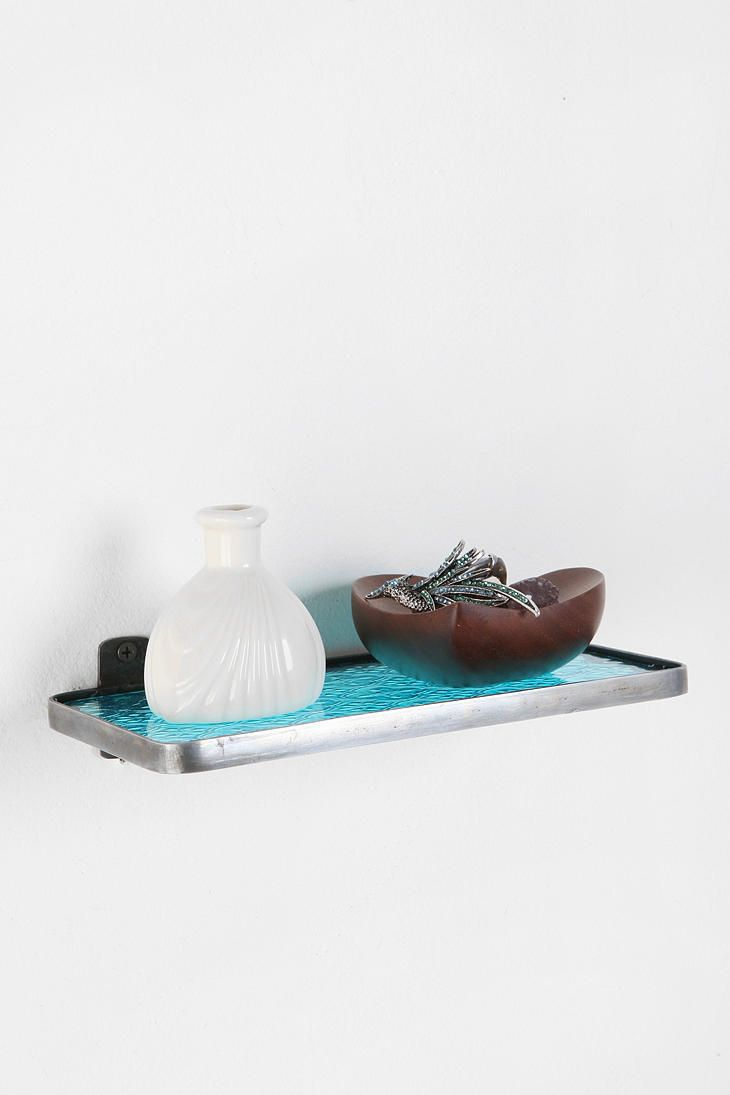 Pressed Glass Shelf #urbanoutfitters: Urbanoutfitters, Decor, Glass Shelves, Urban Outfitters, Glasses, Pressed Glass, Catalog, Bathroom